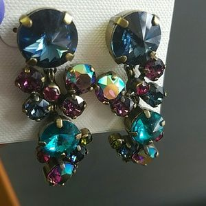 Sorrelli Jewelry - Sorrelli Earrings Super Multi Blues Purples Lime